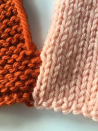 Garter Stitch to Stockinette Stitch 4